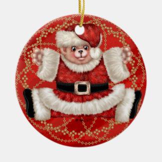 Christmas Bear 5 Circle Ornament