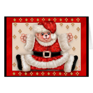 Christmas Bear 5 Premium Greeting Card