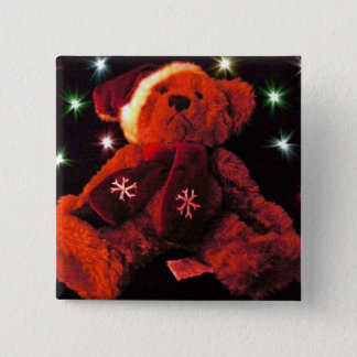 Christmas Bear Button