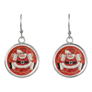 CHRISTMAS BEAR CARTOON Drop Earrings