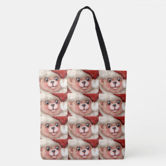 CHRISTMAS BEAR CUTE CARTOON TOTE BAG