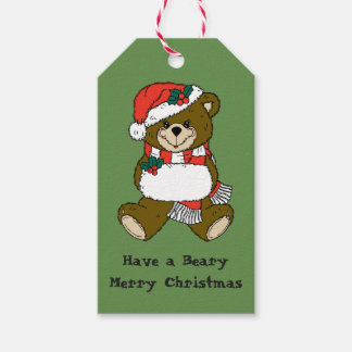 Christmas Bear Gift Tag