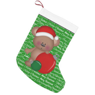 Christmas Bear Holiday cartoon stocking