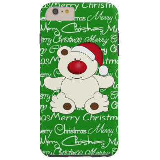 Christmas Bear iPhone 6 plus tough case