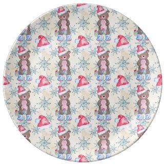 Christmas Bear Pattern Plate