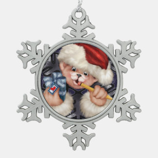 Christmas Bear Snowflake Framed Ornament