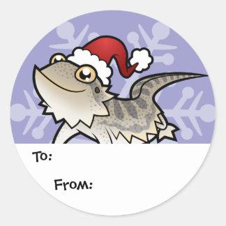 Christmas Bearded Dragon / Rankins Dragon Round Sticker