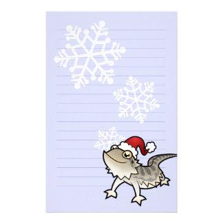 Christmas Bearded Dragon / Rankins Dragon Stationery Paper