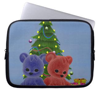 Christmas Bears 2 Laptop Sleeves