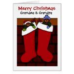 Christmas bears for grandma and grandpa