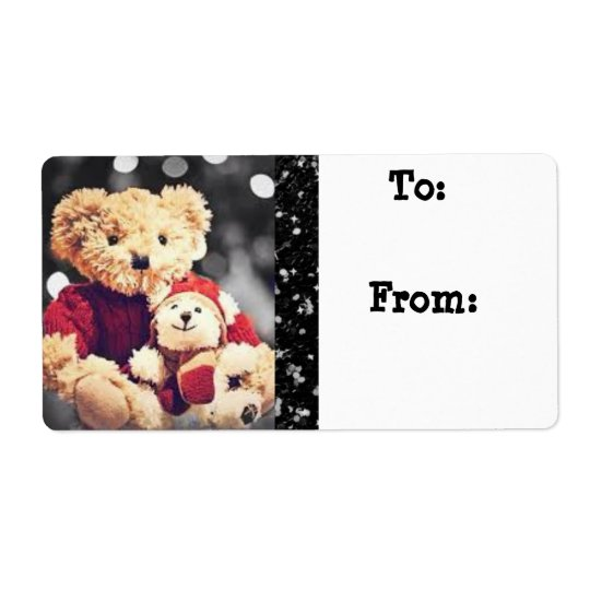 Christmas  Bears Gift Tag Label Stickers