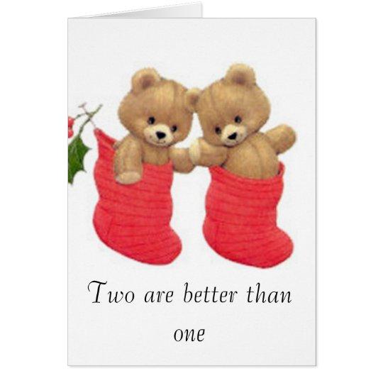 Christmas Bears Greeting Card