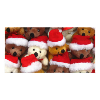 Christmas bears personalized photo card