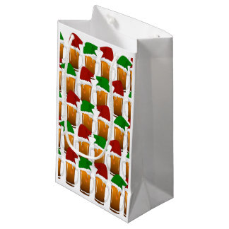 Christmas Beer Cheer Small Gift Bag