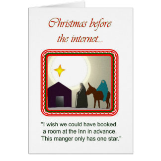 Christmas before the internet... card