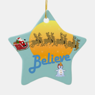 Christmas Believe in Santa Christmas Ornament