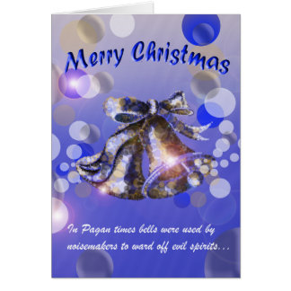 Christmas Bell (Blue) Greeting Card