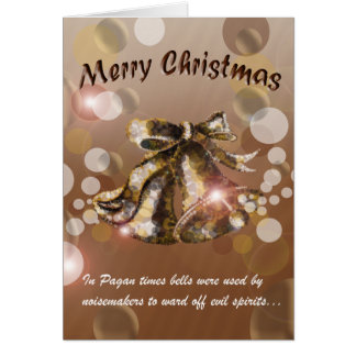 Christmas Bell (Brown) Greeting Card