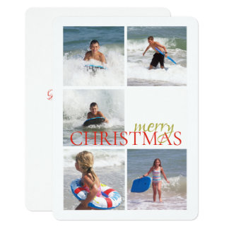 Christmas Bell Double Sided Photo Card