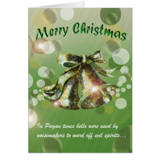 Christmas Bell (Green) Greeting Card