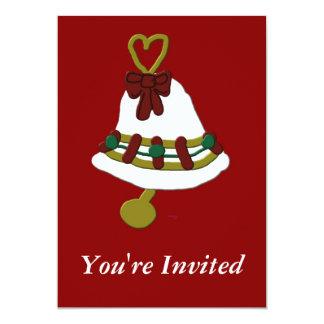 Christmas Bell Invitations
