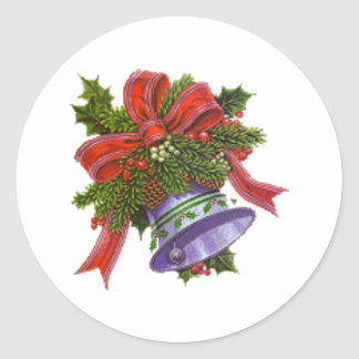 Christmas Bell Round Sticker