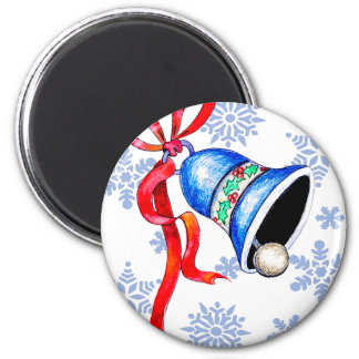 Christmas Bell & Snowflakes Custom Magnets