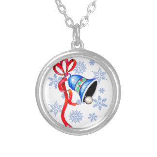 Christmas Bell & Snowflakes Necklace