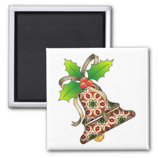 Christmas Bell with Holly-09 Magnet