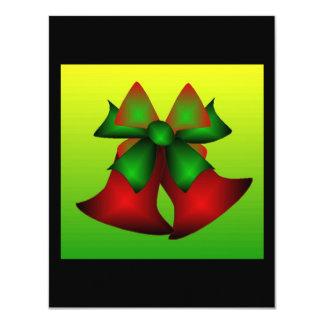"Christmas Bells 4.25"" X 5.5"" Invitation Card"
