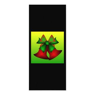 "Christmas Bells 4"" X 9.25"" Invitation Card"