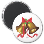 Christmas Bells 6 Cm Round Magnet