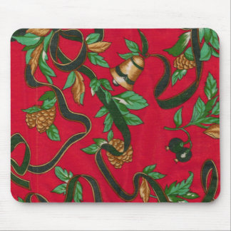 Christmas Bells and Pine Cones Mouse Mat