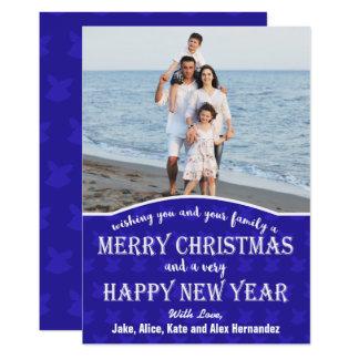 Christmas Bells Background Christmas Photo Card 13 Cm X 18 Cm Invitation Card