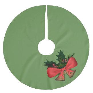 christmas bells brushed polyester tree skirt