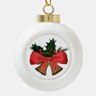christmas bells ceramic ball christmas ornament