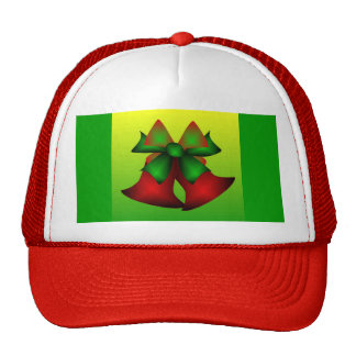 Christmas Bells I In Red Mesh Hat