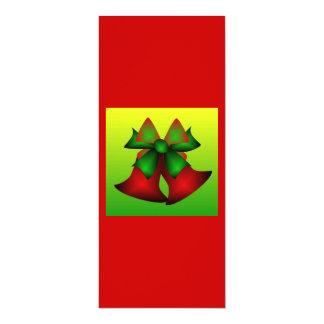 "Christmas Bells II 4"" X 9.25"" Invitation Card"