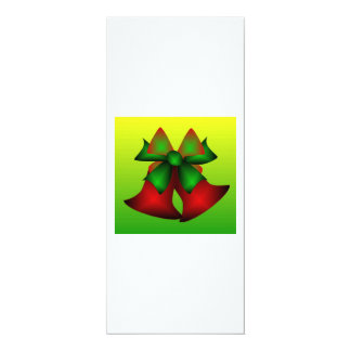 "Christmas Bells III 4"" X 9.25"" Invitation Card"