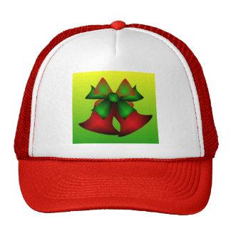 Christmas Bells In Red Mesh Hat