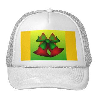 Christmas Bells IV In White Mesh Hats