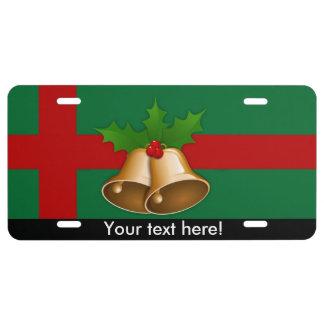 Christmas bells license plate