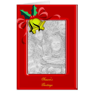 Christmas Bells Photo Frame Greeting Card