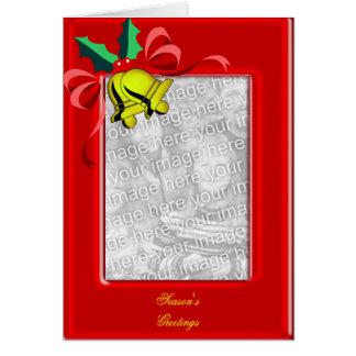 Christmas Bells Photo Frame Greeting Card