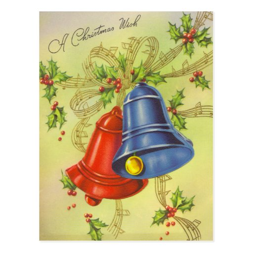 Christmas Bells Postcards
