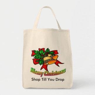 Christmas Bells Shop Till You Drop Tote Bags