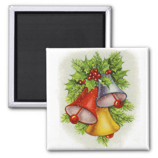 Christmas Bells Square Magnet