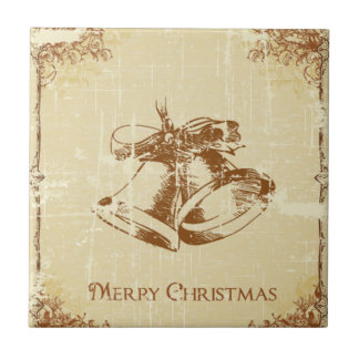 Christmas Bells Small Square Tile
