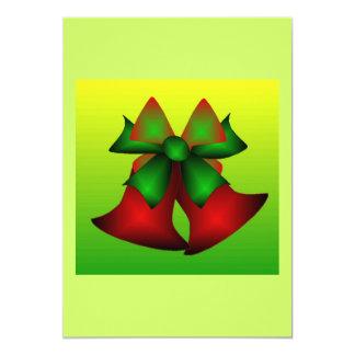 "Christmas Bells V 5"" X 7"" Invitation Card"