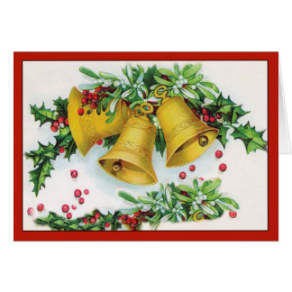 Christmas Bells - Vintage Christmas Card